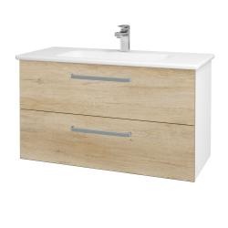 Dreja - Kúpeľňová skriňa GIO SZZ2 100 - N01 Bílá lesk / Úchytka T01 / D15 Nebraska (173753A)
