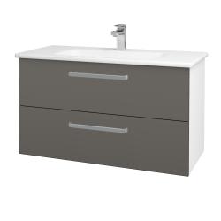 Dreja - Kúpeľňová skriňa GIO SZZ2 100 - N01 Bílá lesk / Úchytka T01 / N06 Lava (202842A)