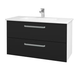 Dreja - Kúpeľňová skriňa GIO SZZ2 100 - N01 Bílá lesk / Úchytka T01 / N08 Cosmo (202866A)