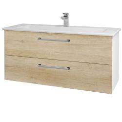 Dreja - Kúpeľňová skriňa GIO SZZ2 120 - N01 Bílá lesk / Úchytka T03 / D15 Nebraska (173777C)