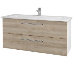 Dreja - Kúpeľňová skriňa GIO SZZ2 120 - N01 Bílá lesk / Úchytka T02 / D17 Colorado (202965B)