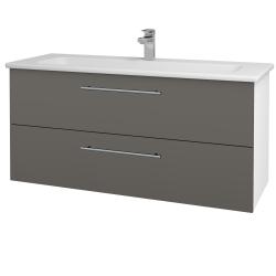 Dreja - Kúpeľňová skriňa GIO SZZ2 120 - N01 Bílá lesk / Úchytka T02 / N06 Lava (203009B)