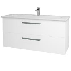 Dreja - Kúpeľňová skriňa GIO SZZ2 120 - N01 Bílá lesk / Úchytka T01 / M01 Bílá mat (202972A)