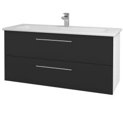 Dreja - Kúpeľňová skriňa GIO SZZ2 120 - N01 Bílá lesk / Úchytka T02 / N03 Graphite (202996B)