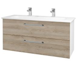 Dreja - Kúpeľňová skriňa GIO SZZ2 120 - N01 Bílá lesk / Úchytka T03 / D17 Colorado (202965CU)