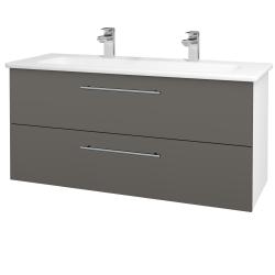 Dreja - Kúpeľňová skriňa GIO SZZ2 120 - N01 Bílá lesk / Úchytka T02 / N06 Lava (203009BU)