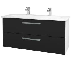 Dreja - Kúpeľňová skriňa GIO SZZ2 120 - N01 Bílá lesk / Úchytka T01 / N08 Cosmo (203023AU)