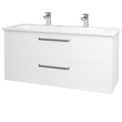 Dreja - Kúpeľňová skriňa GIO SZZ2 120 - N01 Bílá lesk / Úchytka T01 / M01 Bílá mat (202972AU)