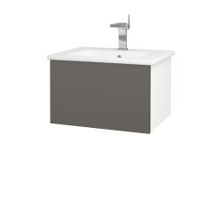 Dreja - Kúpeľňová skriňa VARIANTE SZZ 60 (umývadlo Euphoria) - N01 Bílá lesk / N06 Lava (188368)
