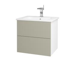 Dreja - Kúpeľňová skriňa VARIANTE SZZ2 60 (umývadlo Euphoria) - N01 Bílá lesk / M05 Béžová mat (188566)