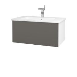 Dreja - Kúpeľňová skriňa VARIANTE SZZ 80 (umývadlo Euphoria) - N01 Bílá lesk / N06 Lava (188788)
