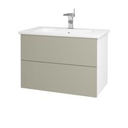 Dreja - Kúpeľňová skriňa VARIANTE SZZ2 80 (umývadlo Euphoria) - N01 Bílá lesk / M05 Béžová mat (188962)
