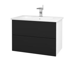Dreja - Kúpeľňová skriňa VARIANTE SZZ2 80 (umývadlo Euphoria) - N01 Bílá lesk / N08 Cosmo (189006)