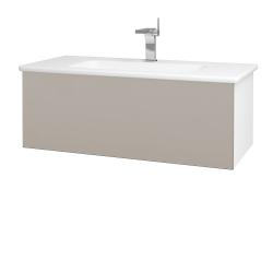Dreja - Kúpeľňová skriňa VARIANTE SZZ 100 (umývadlo Euphoria) - N01 Bílá lesk / N07 Stone (190095)