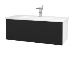Dreja - Kúpeľňová skriňa VARIANTE SZZ 100 (umývadlo Euphoria) - N01 Bílá lesk / N08 Cosmo (190101)