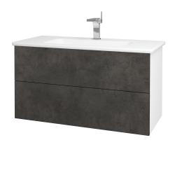 Dreja - Kúpeľňová skriňa VARIANTE SZZ2 100 (umývadlo Euphoria) - N01 Bílá lesk / D16 Beton tmavý (190231)