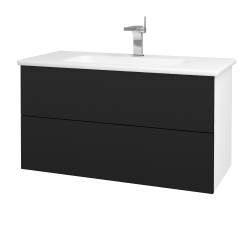Dreja - Kúpeľňová skriňa VARIANTE SZZ2 100 (umývadlo Euphoria) - N01 Bílá lesk / N08 Cosmo (190309)