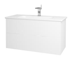 Dreja - Kúpeľňová skriňa VARIANTE SZZ2 100 (umývadlo Euphoria) - N01 Bílá lesk / M01 Bílá mat (190255)