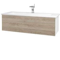 Dreja - Kúpeľňová skriňa VARIANTE SZZ 120 (umývadlo Euphoria) - N01 Bílá lesk / D17 Colorado (190446)