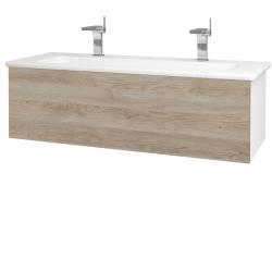 Dreja - Kúpeľňová skriňa VARIANTE SZZ 120 (umývadlo Euphoria) - N01 Bílá lesk / D17 Colorado (190446U)