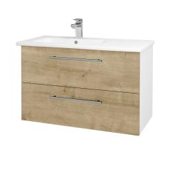 Dreja - Kúpeľňová skriňa GIO SZZ2 90 - N01 Bílá lesk / Úchytka T02 / D09 Arlington (202552B)