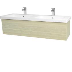 Dreja - Kúpeľňová skriňa INVENCE SZZ 125 (dvojumývadlo Harmonia) - D04 Dub / D04 Dub (184162)