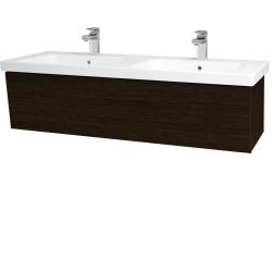 Dreja - Kúpeľňová skriňa INVENCE SZZ 125 (dvojumývadlo Harmonia) - D08 Wenge / D08 Wenge (184193)