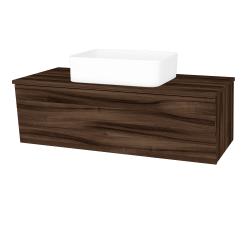 Dreja - Kúpeľňová skriňa INVENCE SZZ 100 (umývadlo Joy) - D06 Ořech / D06 Ořech (182076)