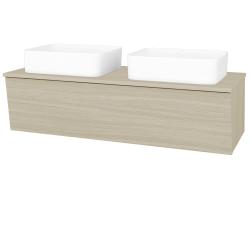 Dreja - Kúpeľňová skriňa INVENCE SZZ 125 (2 umývadlá Joy) - D04 Dub / D04 Dub (184742)