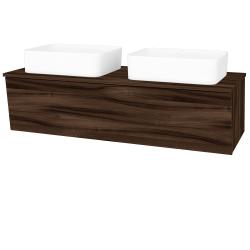 Dreja - Kúpeľňová skriňa INVENCE SZZ 125 (2 umývadlá Joy) - D06 Ořech / D06 Ořech (184766)