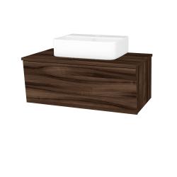 Dreja - Kúpeľňová skriňa INVENCE SZZ 80 (umývadlo Joy 3) - D06 Ořech / D06 Ořech (180911)