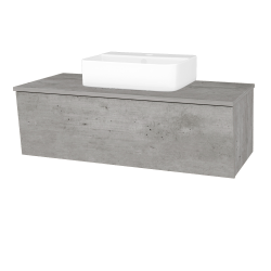Dreja - Kúpeľňová skriňa INVENCE SZZ 100 (umývadlo Joy 3) - D01 Beton / D01 Beton (183189)