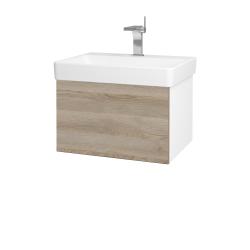 Dreja - Kúpeľňová skriňa VARIANTE SZZ 60 - N01 Bílá lesk / D17 Colorado (194444)