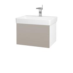 Dreja - Kúpeľňová skriňa VARIANTE SZZ 60 - N01 Bílá lesk / N07 Stone (194482)