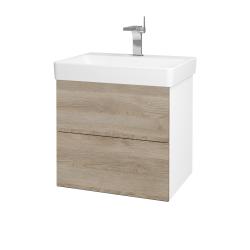 Dreja - Kúpeľňová skriňa VARIANTE SZZ2 60 - N01 Bílá lesk / D17 Colorado (194642)
