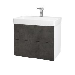 Dreja - Kúpeľňová skriňa VARIANTE SZZ2 70 - N01 Bílá lesk / D16 Beton tmavý (195038)