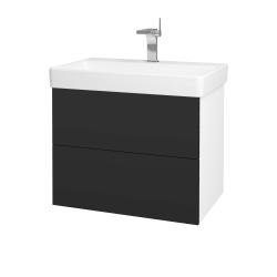 Dreja - Kúpeľňová skriňa VARIANTE SZZ2 70 - N01 Bílá lesk / N03 Graphite (195076)