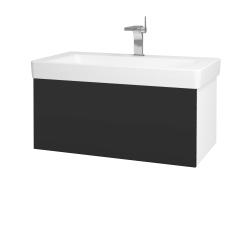 Dreja - Kúpeľňová skriňa VARIANTE SZZ 85 - N01 Bílá lesk / N03 Graphite (195328)