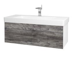 Dreja - Kúpeľňová skriňa VARIANTE SZZ 105 - N01 Bílá lesk / D10 Borovice Jackson (195625)