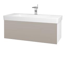 Dreja - Kúpeľňová skriňa VARIANTE SZZ 105 - N01 Bílá lesk / N07 Stone (195700)