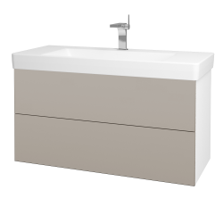 Dreja - Kúpeľňová skriňa VARIANTE SZZ2 105 - N01 Bílá lesk / N07 Stone (195908)