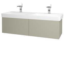 Dreja - Kúpeľňová skriňa VARIANTE SZZ2 130 - M05 Béžová mat / M05 Béžová mat (196011)