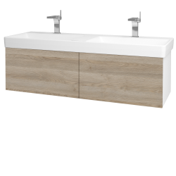 Dreja - Kúpeľňová skriňa VARIANTE SZZ2 130 - N01 Bílá lesk / D17 Colorado (196059)