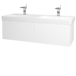 Dreja - Kúpeľňová skriňa VARIANTE SZZ2 130 - N01 Bílá lesk / M01 Bílá mat (196066)