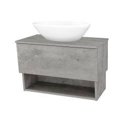 Dreja - Kúpeľňová skriňa INVENCE SZZO 80 (umývadlo Triumph) - D01 Beton / D01 Beton (181154)