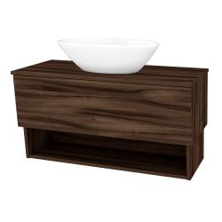 Dreja - Kúpeľňová skriňa INVENCE SZZO 100 (umývadlo Triumph) - D06 Ořech / D06 Ořech (183523)