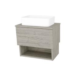 Dreja - Kúpeľňová skriňa INVENCE SZZO 65 (umývadlo Joy) - D05 Oregon / D05 Oregon (176396)
