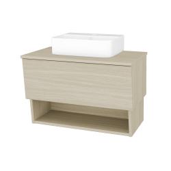 Dreja - Kúpeľňová skriňa INVENCE SZZO 80 (umývadlo Joy 3) - D04 Dub / D04 Dub (180607)