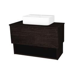 Dreja - Kúpeľňová skriňa INVENCE SZZO 80 (umývadlo Joy 3) - D08 Wenge / D08 Wenge (180638)