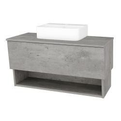Dreja - Kúpeľňová skriňa INVENCE SZZO 100 (umývadlo Joy 3) - D01 Beton / D01 Beton (182892)